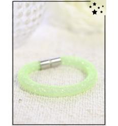 Bracelet - Cristal et nylon large - Simple - Pomme