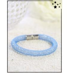 Bracelet - Cristal et nylon large - Simple - Océan