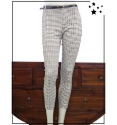 Chic & Jeune - 36 au 44 - Coton - Pantalon chino - Camel, noir et marron