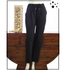 TU et GT (max 48) - Coton - Pantalon - Noir
