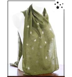 Foulard touches brillantes - Abeille - Vert