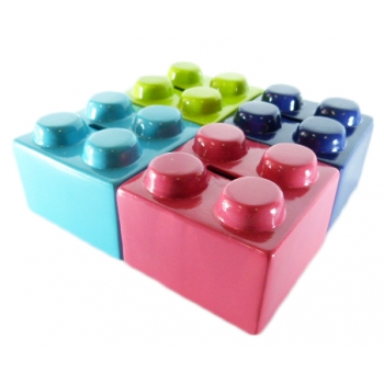 x4 Tirelire Cube Couleur