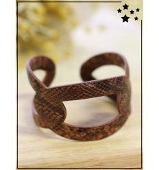 Bracelet manchette - Python - Camel