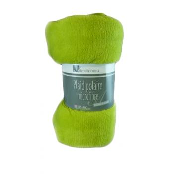 Plaid Polaire Microfibre 125cmx150cm Vert