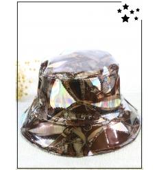 Chapeau de pluie - Motif baroque - Cuivre