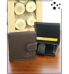 Porte-monnaie - Compartiment monnaie - Chocolat