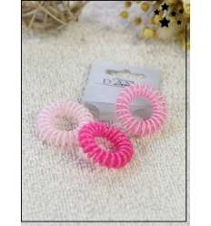 Chouchou ressort x3 - Petite taille - Tons roses